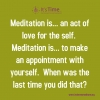 Meditation - An Act of Self Love