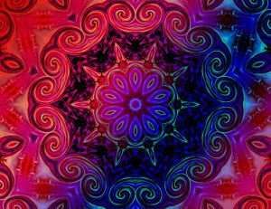 Multicolor floral mandala